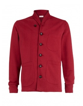 Gifts under £100 for him: Universal Works claret sweat jacket