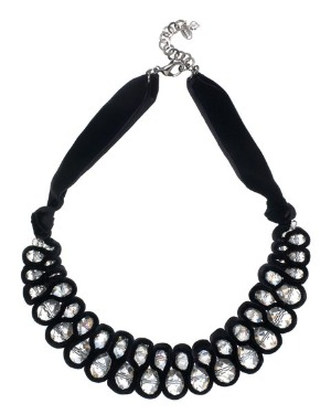Gifts under £100 for her: Jaeger crystal and velvet necklace