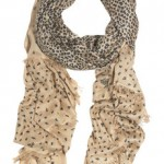 Luxury gifts for her: Mulberry leopard print scarf