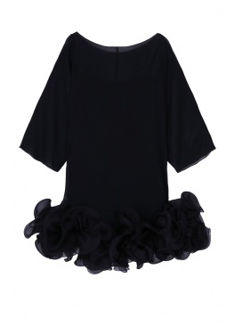 Party dresses over £250: Notte by Marchesa silk ruffle hem dress