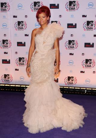 Rihanna in Marchesa
