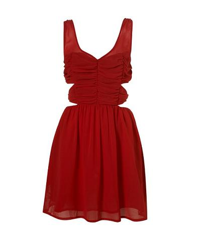 Party dresses under £100: Topshop cut-out ruched dress