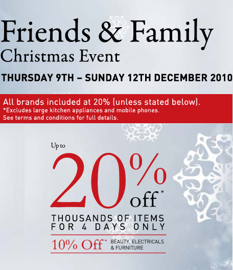 20% off at House of Fraser!
