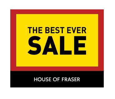 House of Fraser's best ever sale has begun!