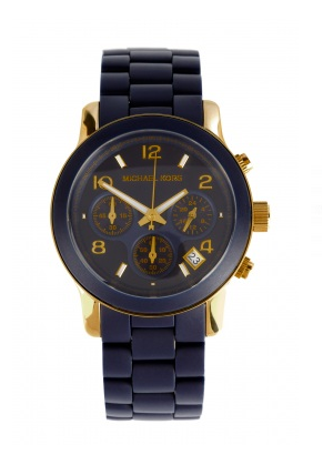 Luxury gifts for her: Michael Kors navy chronograph watch