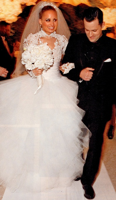 Nicole Richie's Marchesa wedding dress