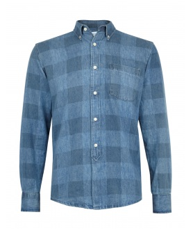 Last minute gifts for him: Our Legacy denim check shirt