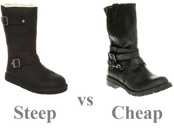 Steep vs Cheap: biker boots