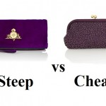 Steep vs Cheap: Purple party clutches