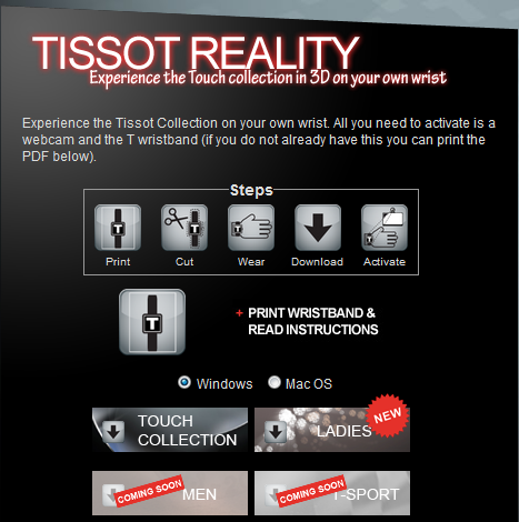 Tissot launches augmented reality campaign