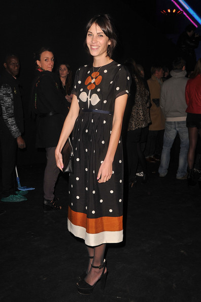 Alexa Chung at Etam's fashion show
