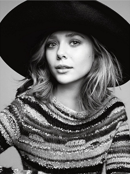 Elizabeth Olsen, the twins' sister, in this month's V