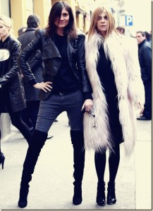 Emannuelle Alt and Carine Roitfeld