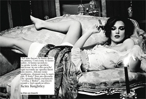 Keira Knightley in Vogue Italia