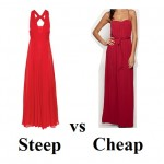 Steep vs Cheap: January Jones's Golden Globe Versace dress