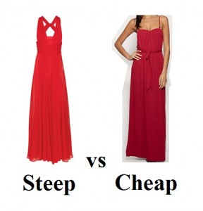 Steep vs Cheap red dress