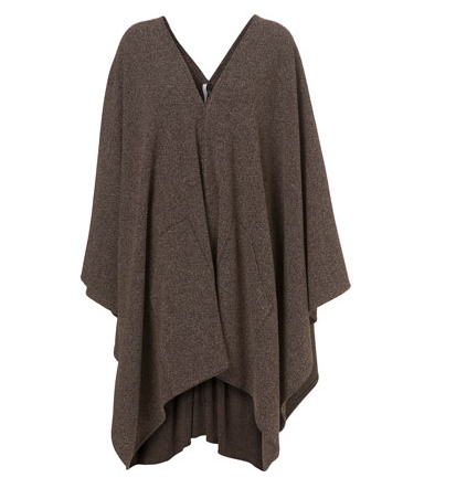 Lunchtime buy: Topshop Boutique brown tweedy poncho