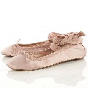 Lunchtime buy: Topshop pink leg tie ballet flats