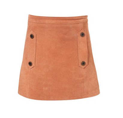 Lunchtime buy: Topshop peach suede skirt