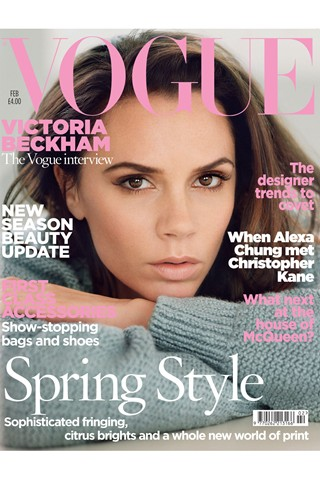 Victoria Beckham covers February's Vogue