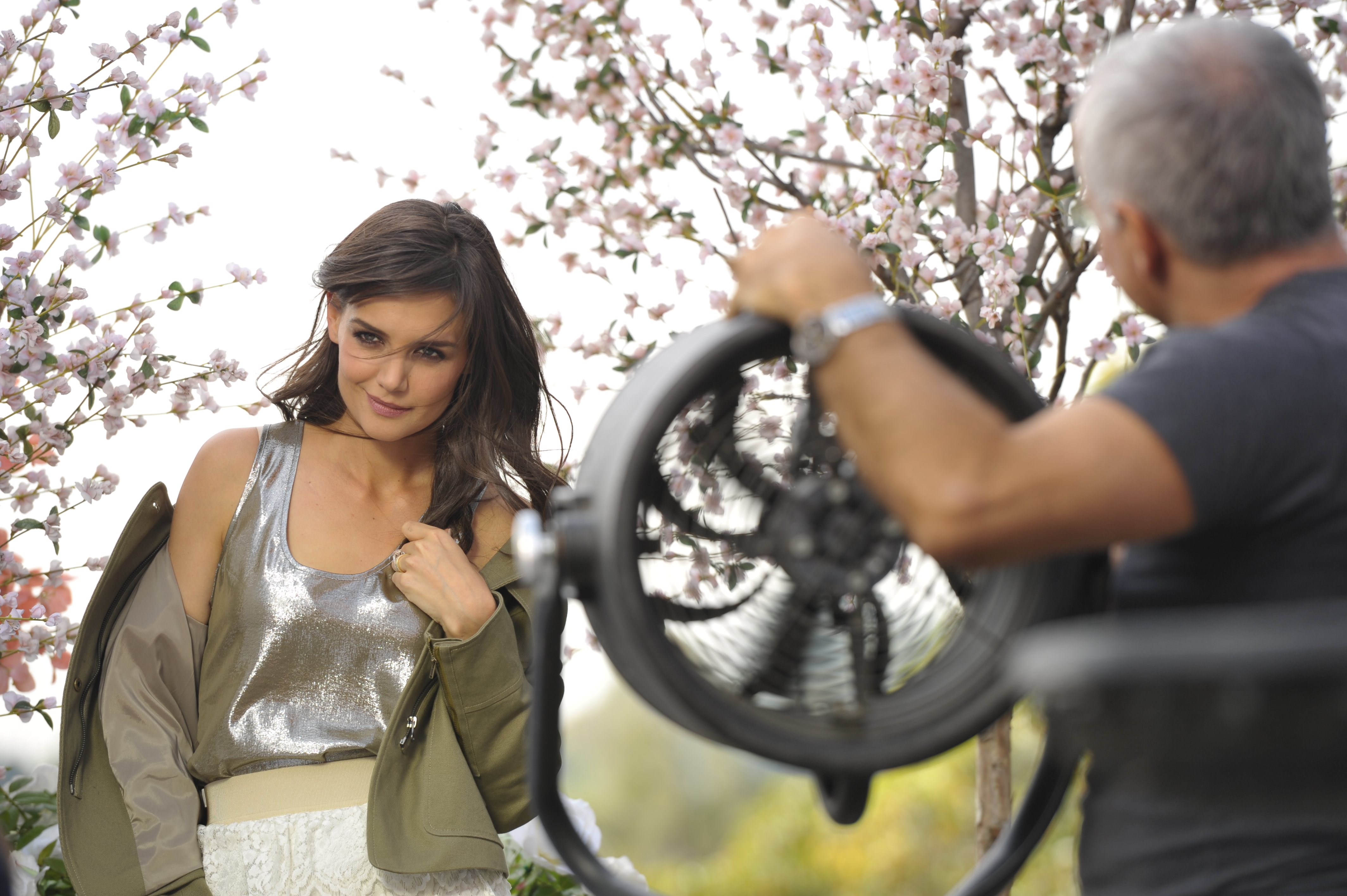 First look: Katie Holmes for Ann Taylor SS11