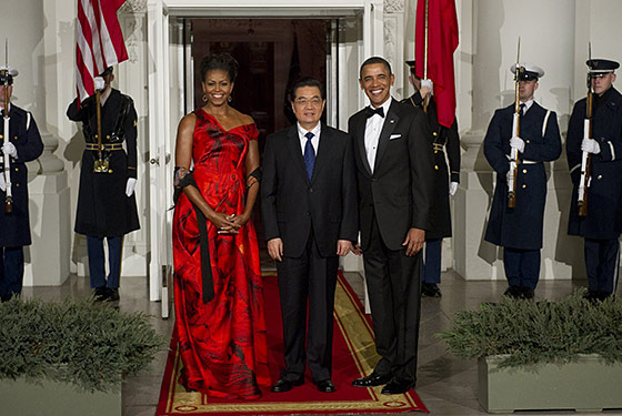 Michelle Obama wears Alexander McQueen to State Dinner