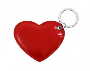 Aspinal of London Heart Key Ring