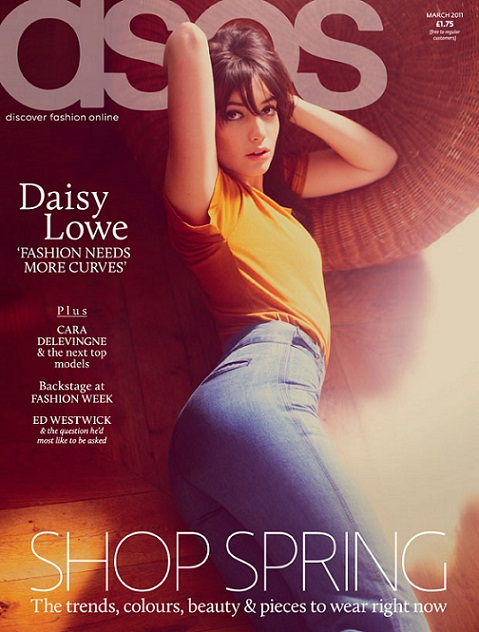 Daisy Lowe covers ASOS magazine's February issue