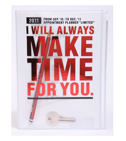 Valentine's gifts for him: I Will Always Make Time For You diary