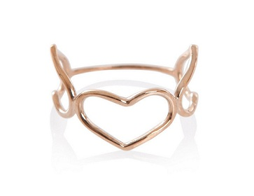 Valentine's gift for her: Jordy by Jordan Askill triple heart ring