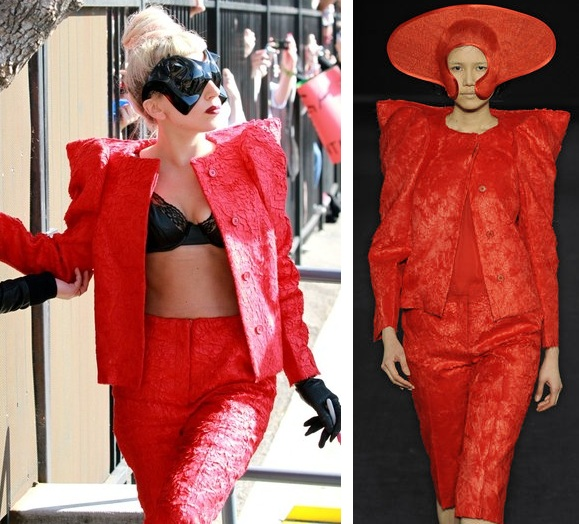 Lady Gaga wears LCF MA graduate Dinu Bodiciu on the Tonight Show!