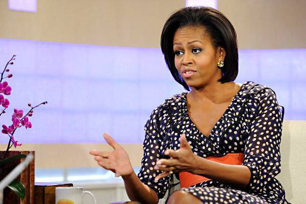 Michelle Obama wears $35 H&M dress