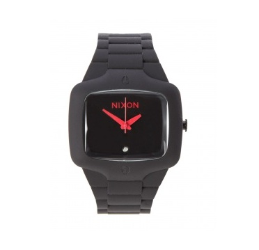 Valentine's gifts for him: Nixon black rubber watch
