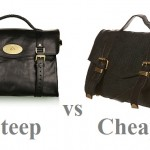 Steep vs Cheap: black leather satchel
