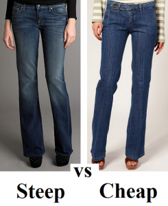 Steep vs Cheap Jeans