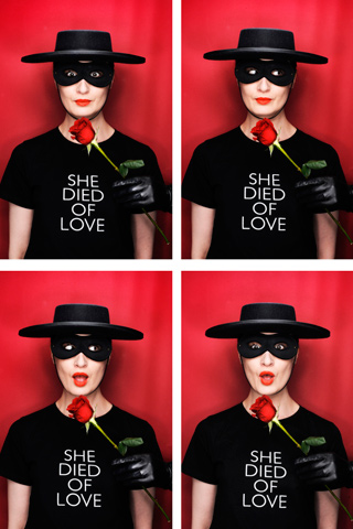 Erin O'Conner designs exclusive Valentine's T-shirt