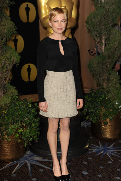 Michelle Williams gets it right in Jill Stuart. Thumbs up!