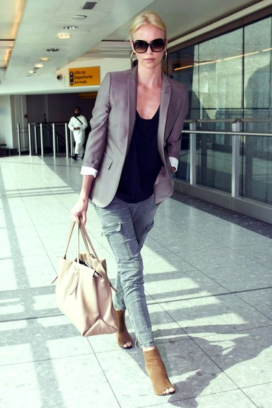 Charlize Theron forms a high-flying look in J Brand