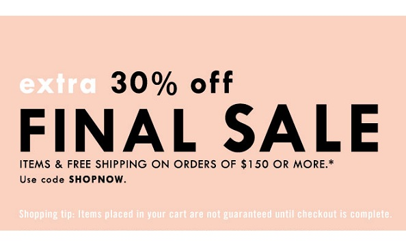 Get an extra 30% off sale items at J. Crew!