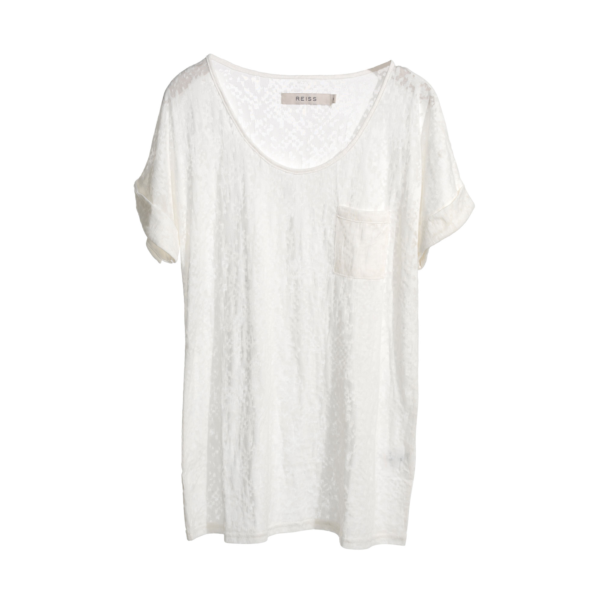 Reiss sunshine relaxed t-shirt in cream