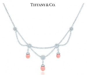 Tiffany Rose Diamond Necklace