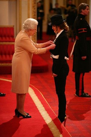 Alice Temperley receives an MBE from the Queen