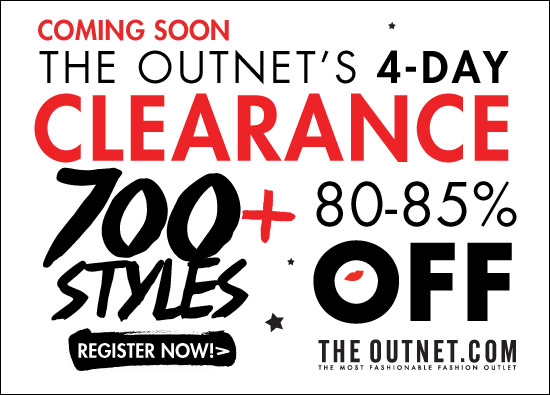 80-85% off in theOutnet's clearance sale!