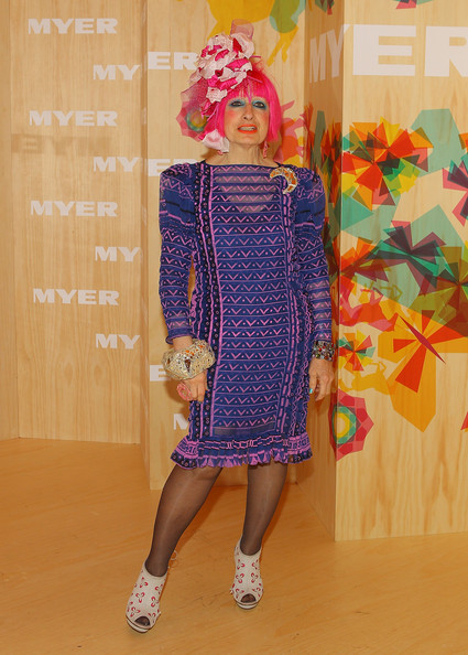 Zandra Rhodes designs costume for 33 foot Olympics puppet
