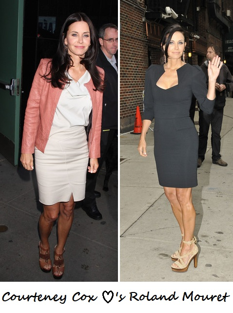 Courteney Cox loves Roland Mouret!