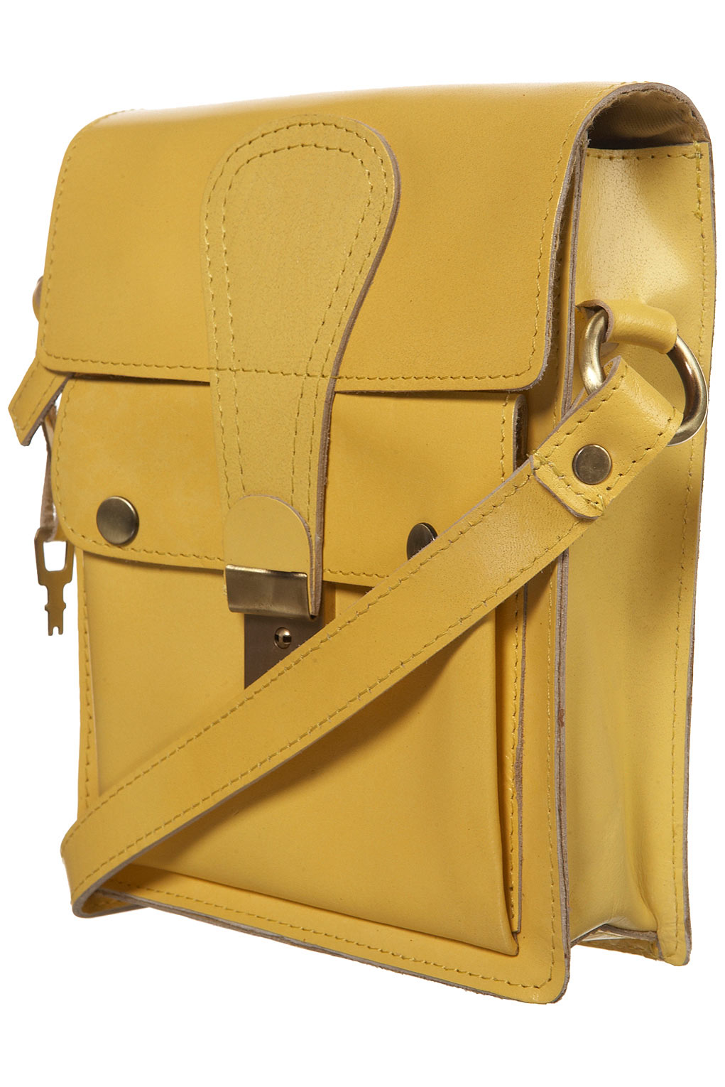 Deal of the day: Topshop yellow vintage look leather satchel