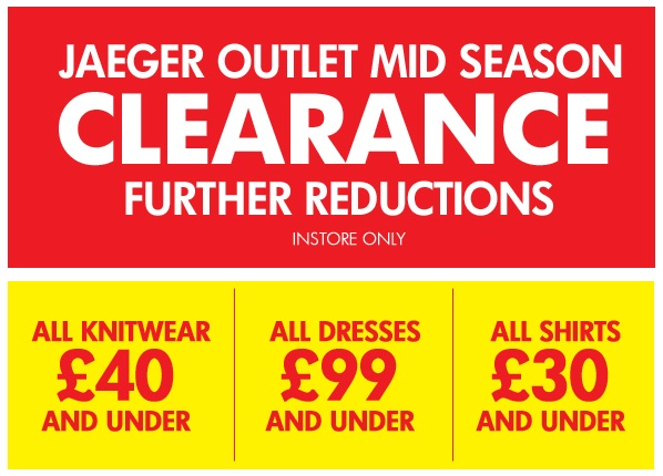 Further reductions in Jaeger Outlet's mid-season sale!