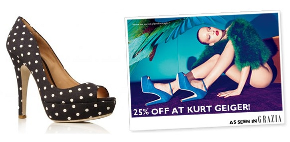 Get 25% off full-priced shoes at Kurt Geiger
