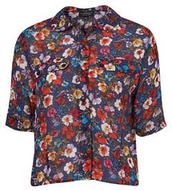 Pansy print shirt