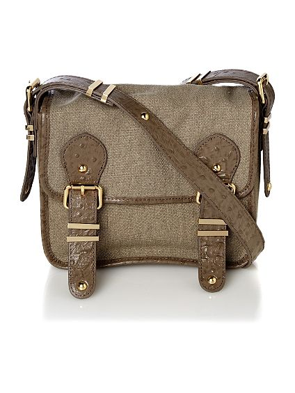 Deal of the day: Pied a Terre boxy flap over canvas cross body bag